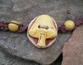 Yellow Mushroom Hemp Bracelet