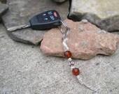 Ruby Hemp Keychain