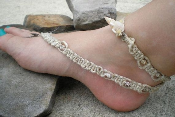 Barefoot Sea Shell Hemp Sandals