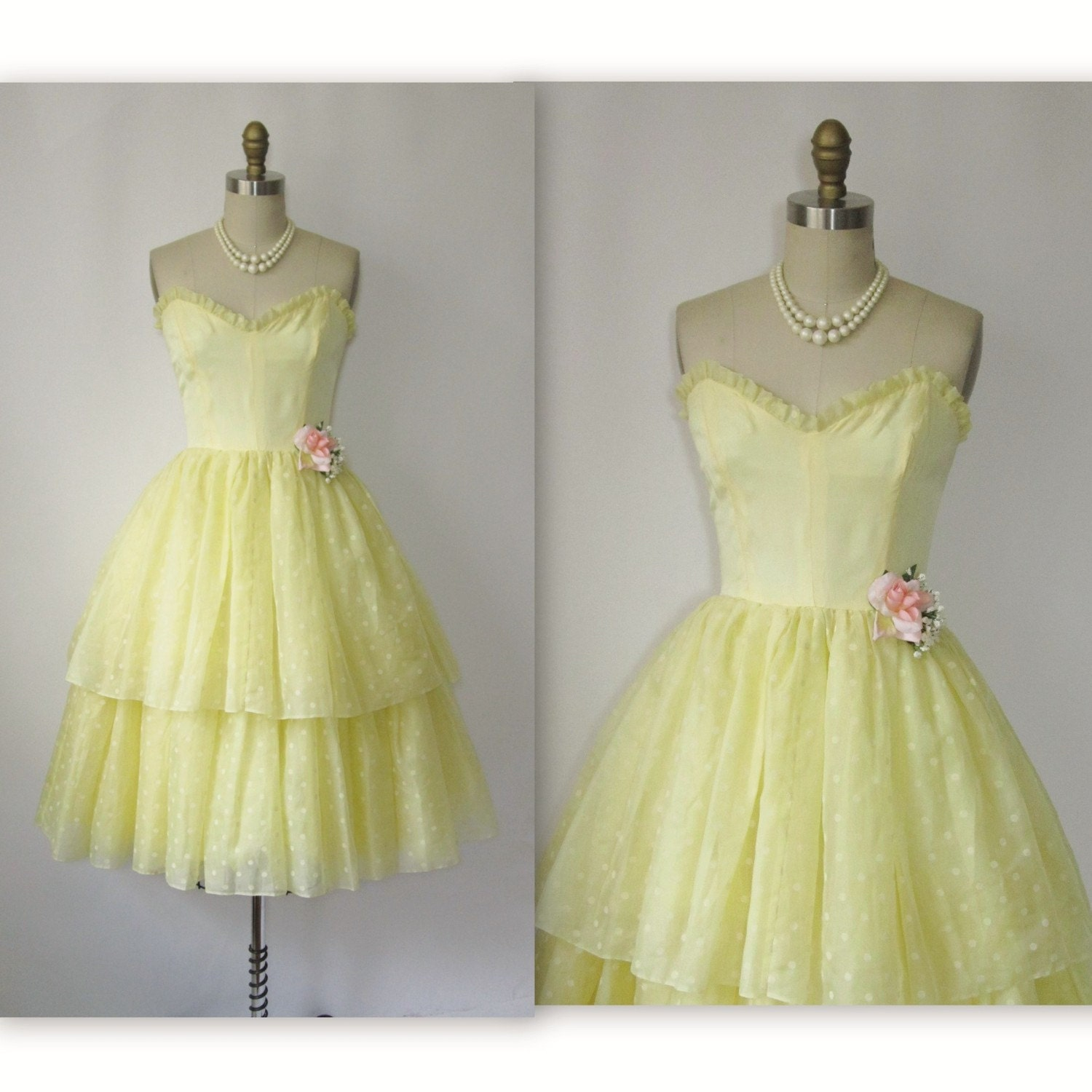 60 S Prom Dress Vintage 1960 S Flocked Chiffon