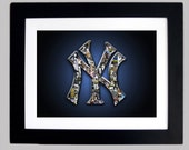FRAMED New York Yankee Art Print (8.5x11)