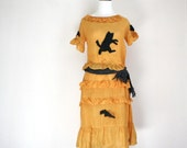 RESERVED Vintage 1920s 1930s Halloween dress