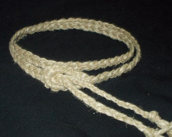 Natural Braided Hemp Belt