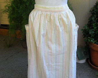 Vintage 1970s Clothing, Vintage Cotton Skirt, Summer Skirt