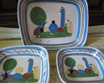 Clearance Mexican Casserole Set, Vintage Mexican Casserole Set from 1960s Vintage Mexico