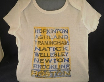 Running Boston Onesie