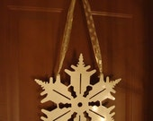 White Winter Snowflake Door Art