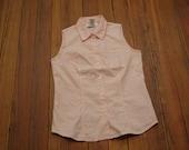 women's vintage pink sleeveless top.