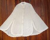 women's vintage knit poncho.