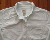 women's vintage L.L. Bean cotton button up.
