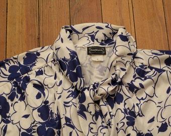 women's vintage 60's floral print blouse.