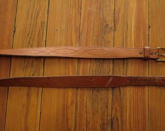 mens vintage western leather belt