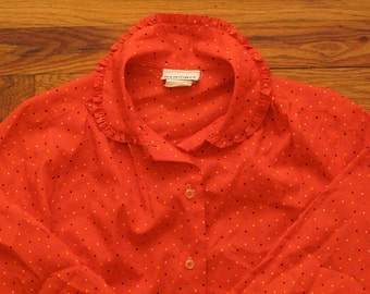 women's vintage polka dot blouse.