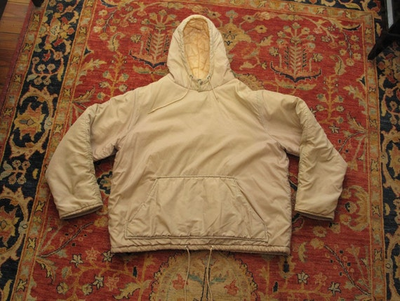 quilted insulated hooded pullover