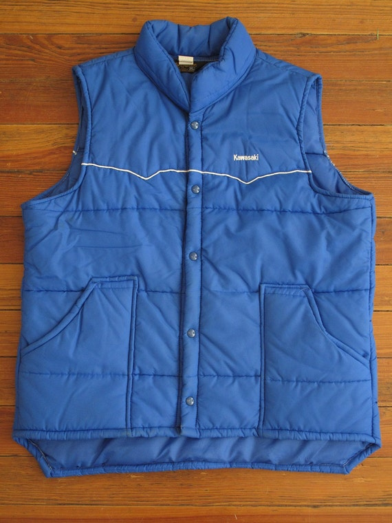 mens vintage KAWASAKI western insulated vest