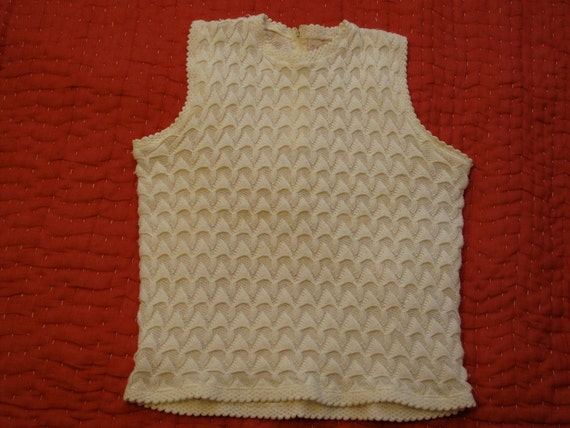 women's vintage sweater vest.