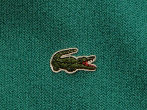 mens vintage izod lacoste alligator sweater