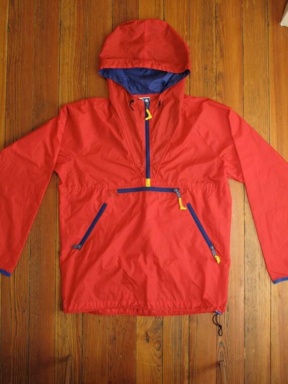 mens sierra design pull over rain jacket