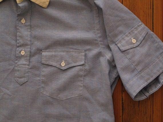 mens vintage oxford pop over shirt