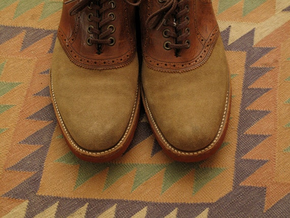Mens Hanover Suede Saddle Shoes By Countylinegeneral On Etsy
