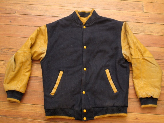 mens vintage reversible varsity jacket