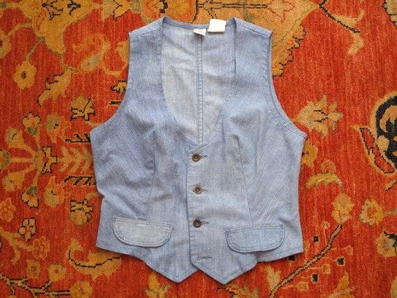 women's vintage chambray Wrangler vest.