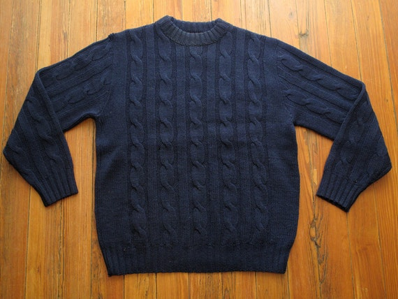 mens vintage pendleton cable knit sweater