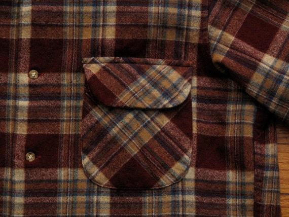 mens vintage pendleton wool flannel work shirt