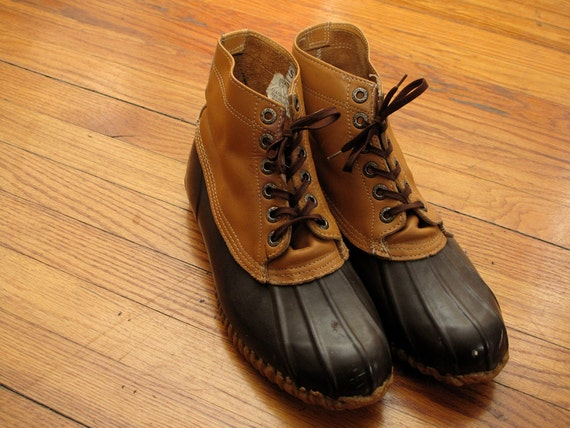 mens vintage sears duck boots