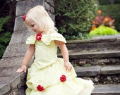 Children's costume girl's clothing sewing tutorial PDF pattern Belle of the Ball Gown by Tenderfeet Stitches INSTANT DOWNLOAD