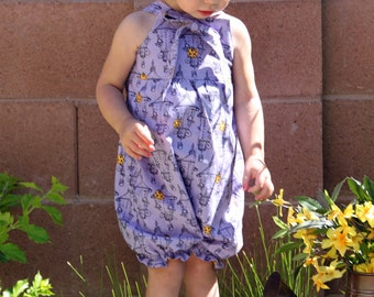 Lil One Knot Romper Combo Boy and Girl PDF Tutorial Pattern INSTANT DOWNLOAD