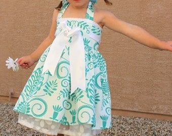 Girl's Dress sewing tutorial PDF kid's clothing Bowtie Halter dress INSTANT DOWNLOAD