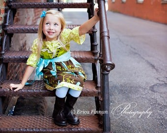 Jheri Jumper Dress girls clothing sewing PDF tutorial pattern for children INSTANT DOWNLOAD