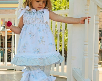 Shabby n Chic Parisian Pillowcase Girls Dress and Top sewing pattern tutorial PDF childrens clothing for kids babies child INSTANT DOWNLOAD