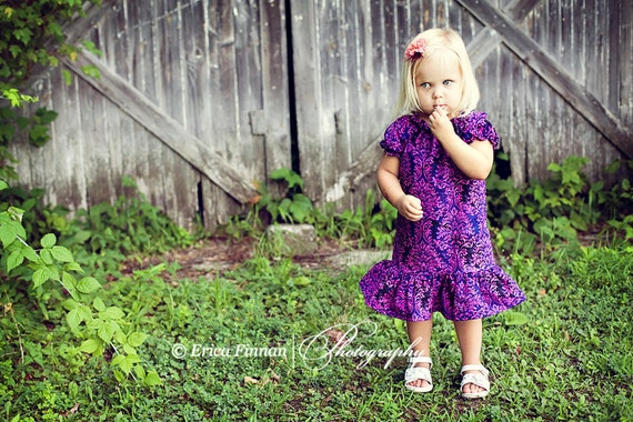 Girl's Tennis Dress or Top children's clothing sewing PDF tutorial pattern by Tenderfeet Stitches INSTANT DOWNLOAD