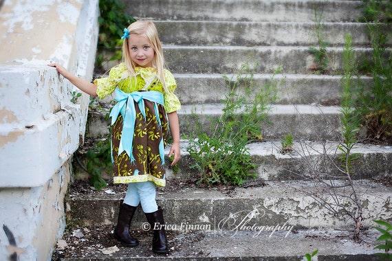 Jheri Jumper Dress kid's sewing PDF tutorial patternfor girls by Tenderfeet Stitches INSTANT DOWNLOAD