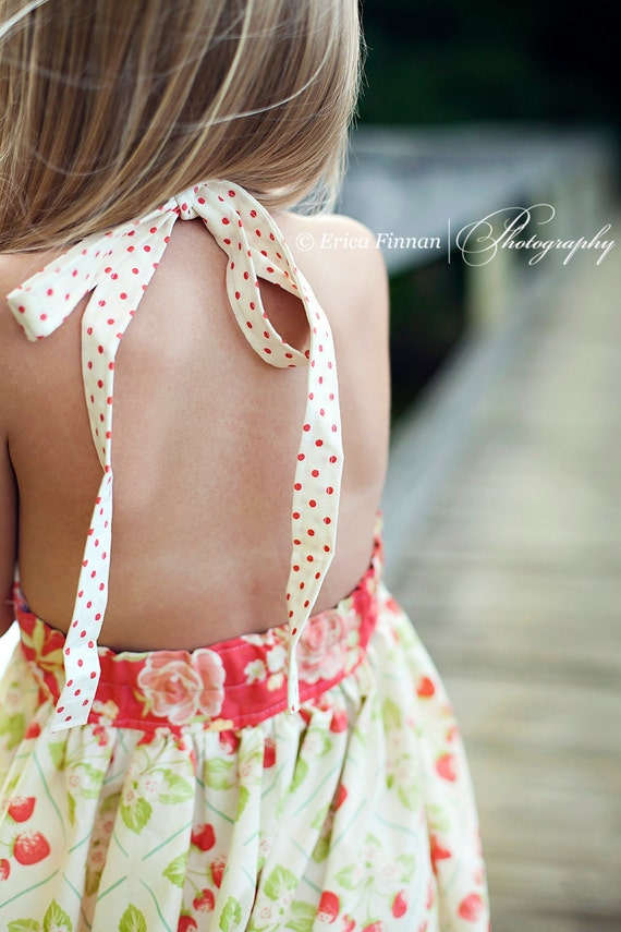 Girl's Classic Sundress children's clothing sewing Tutorial Pattern ePattern DIY ebook PDF INSTANT download