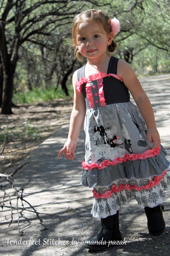 Girl S Boutique Ruffle Dress Pdf Pattern Tutorial For