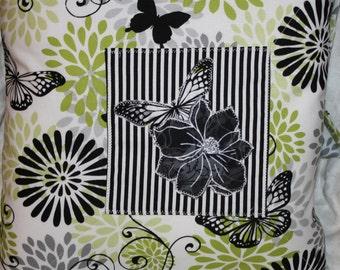 Flowers and Butterflies Decorator Pillow 1