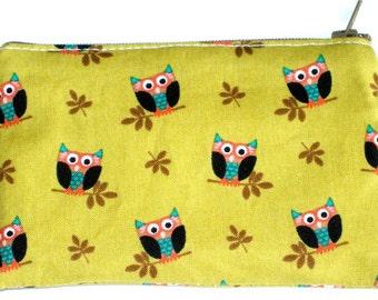 Tiny Owls Coin Purse Zipper Pouch