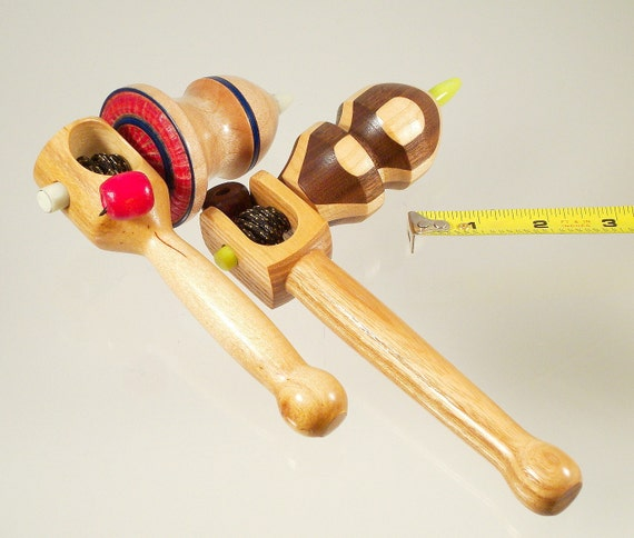 Spin tops No. 314a, Toy tops with handle. Free shipping to US & Canada.