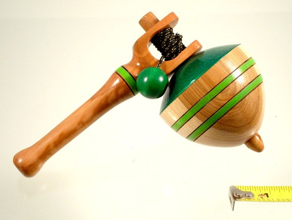 Spin top No. 100a, Toy top with handle. Free shipping to US & Canada.