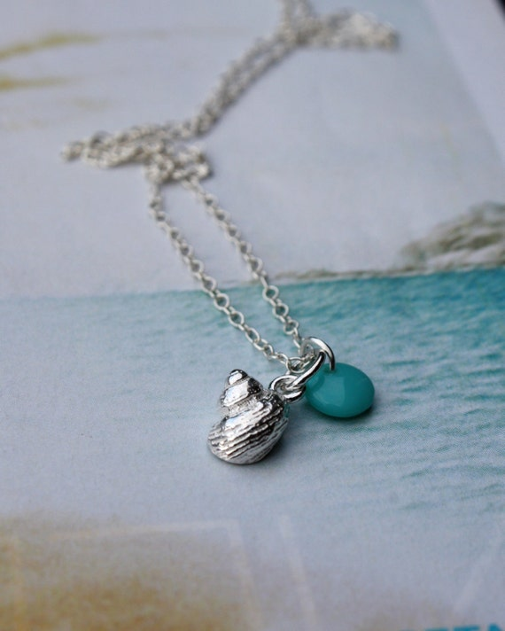 Silver Shell Turquoise Necklace