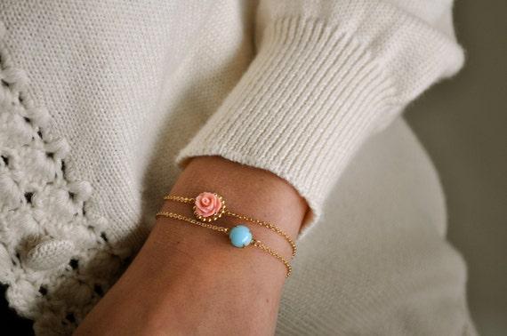 Two Pastel Vermeil Bracelets