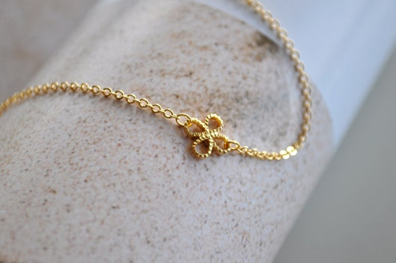 Gold Clover Quatrefoil Bracelet