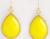 Bright Yellow Dangle Earrings