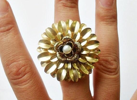RESERVED - Golden Flora Ring