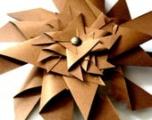 Paper Pinwheel in caramel from Use Your Knoggin