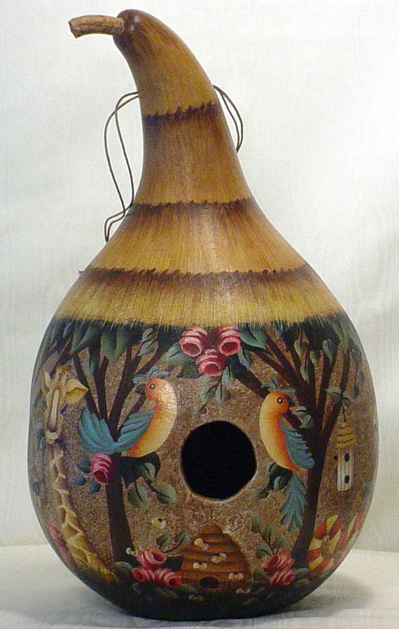 Hand Painted Gourd Bird Houses