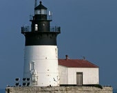 The Detroit River Lighthouse on Lake Erie Fine Art Photo
